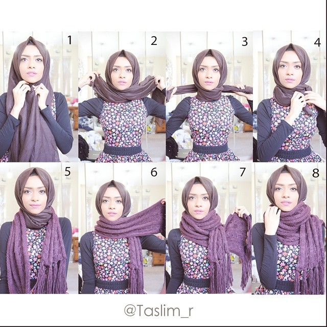 201 Best Images About Hijab Tutorials On Pinterest Simple Hijab Tutorial Hijab Style Tutorial