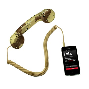 Don't really like the color but the idea is awesome.  Cellphone Handset.
