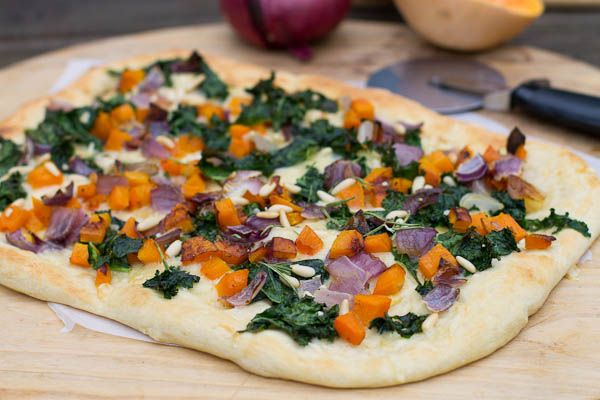 Butternut Squash and Kale Flatbread