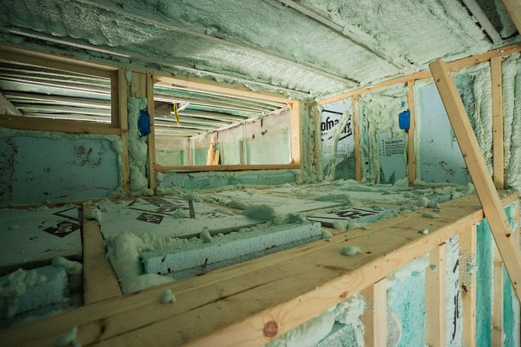 Spray Foam Insulation at a fraction of the cost for a Skoolie or RV. :) Good for attic spaces too!