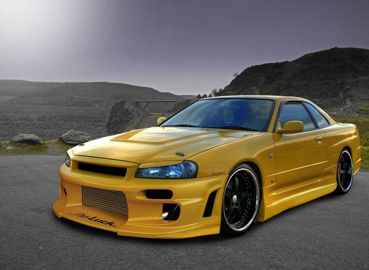 Nissan Skyline GTR R34 Yellow Wallpapers