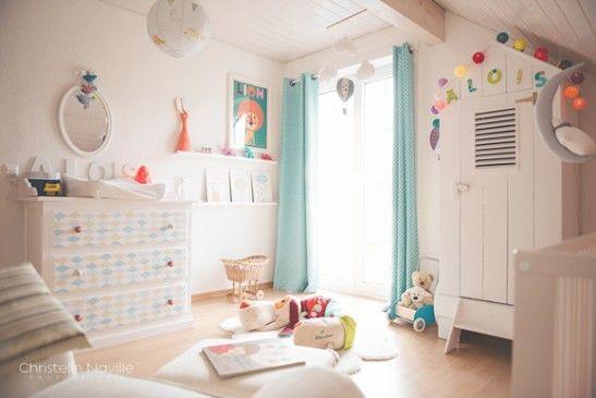 chambre bebe garcon beige et bleu