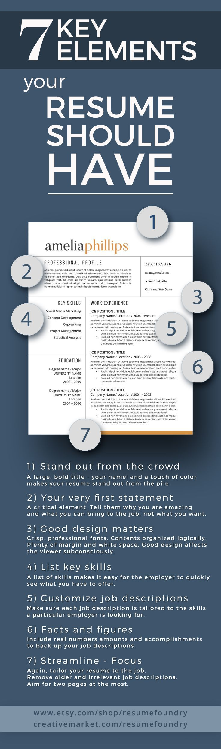 7 Key Elements your resume should have - does yours? - Tap the link now to Learn how I made it to 1 million in sales in 5 months with e-commerce! I'll give you the 3 advertising phases I did to make it for FREE!