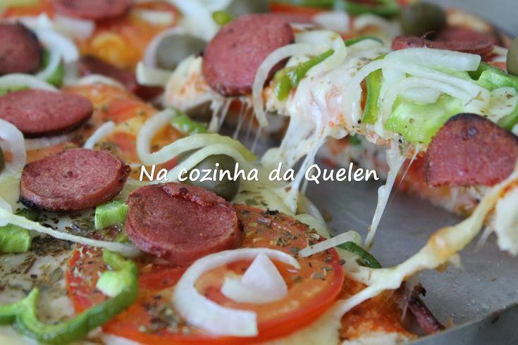 Na cozinha da Quelen...: Pizza de pão de forma