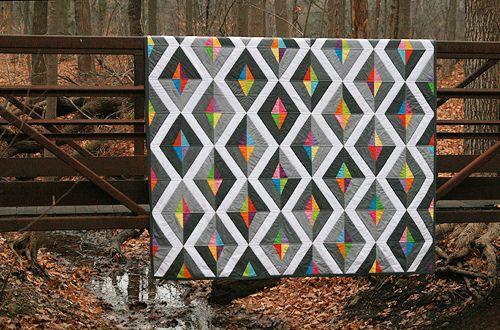 PrismQuilt Inspiration, Lemon Quilt, Modern Quilt Pattern, Quilt Design, Prism Quilt, Paper Piece, String Quilt, Quiltmaker Magazines, Fresh Lemon
