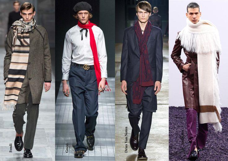 FW15 menswear trends / Long scarves / Férfi divat 2015 ősz tél / Hosszú sál