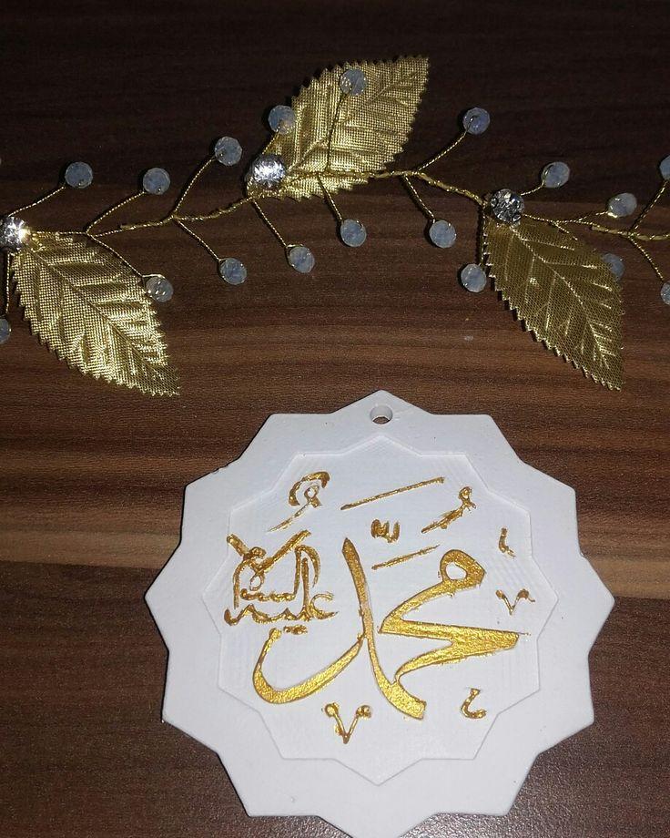 Kokulu taş Muhammed yazısı#Yaldızlı boyama
