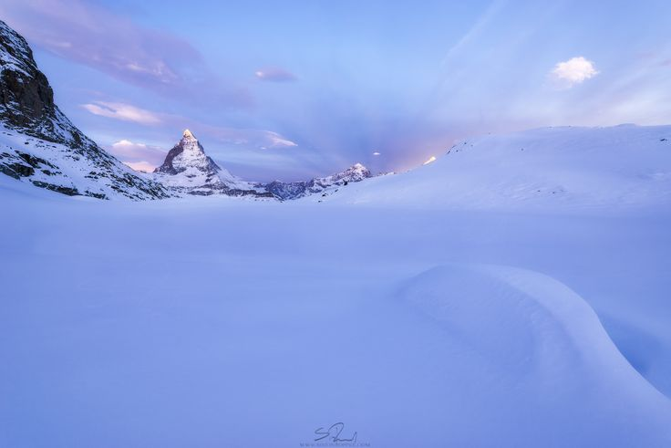 First light at Matterhorn, Switzerland  For general requests please contact me over www.simonroppel.com  i'd also be more than happy if you follow me on facebook and twitter.   wish you guys all a beautiful wintertime :)
