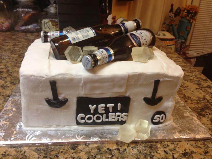 Yeti Birthday Cake Cakes Pinterest Coolers
