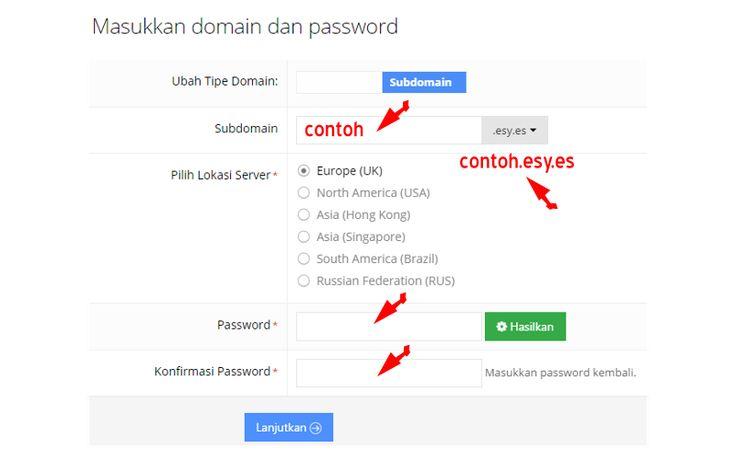 membuat nama subdomain pada  web hosting idhostinger