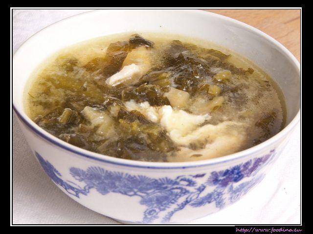 Suan Cai Ji Si Tang - Hühnersuppe mit eingemachtem Senfgrün