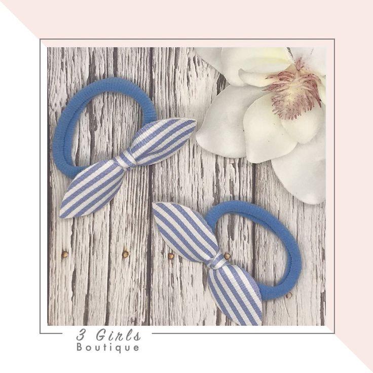 Knot Bow Hair Elastics                      – 3 Girls Boutique