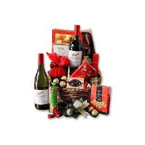 Wine and Cheese Hamper 2 bottles of Bordolino Italian red wine; yummy Ferrero Rocher Chocolates nutella and President Petit Camembert 113 Euros