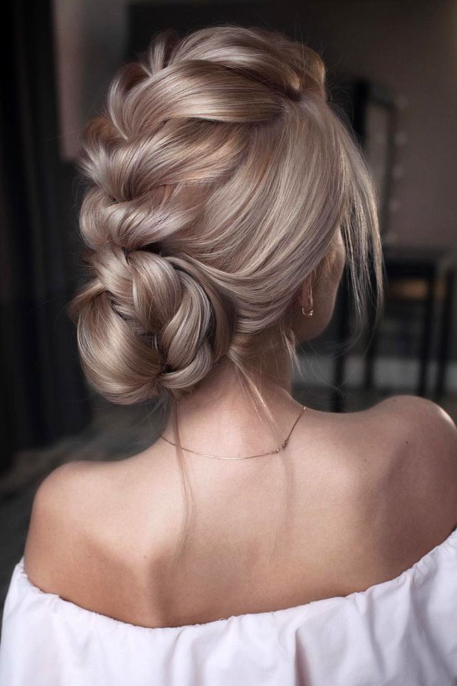 35 Trendy Prom Updos | Braided Low Bun | Hairstyle on Point