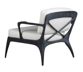 Flow Lounge Chair With Cushions  Contemporary, Metal, Upholstery  Fabric, Resin  Composite, Lounge Chair by Henry Hall Designs