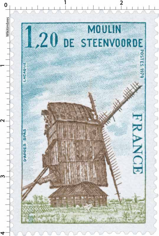Timbre : 1979 MOULIN DE STEENVOORDE | WikiTimbres