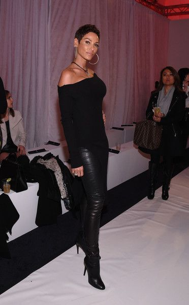 Model Nicole Murphy at the Argyleculture By Russell Simmons X ModaBox- Runway - Mercedes-Benz Fashion Week Fall 2015