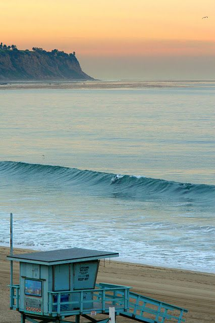 (See Next Pin) CAs Surf   Redondo Beach, with the Palos Verdes Peninsula in the background.