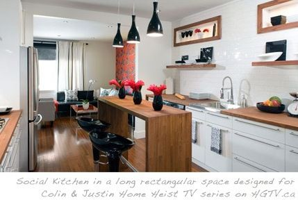 17 best images about kitchen on pinterest open layout long narrow kitchen and cabinets for Long and narrow kitchen designs