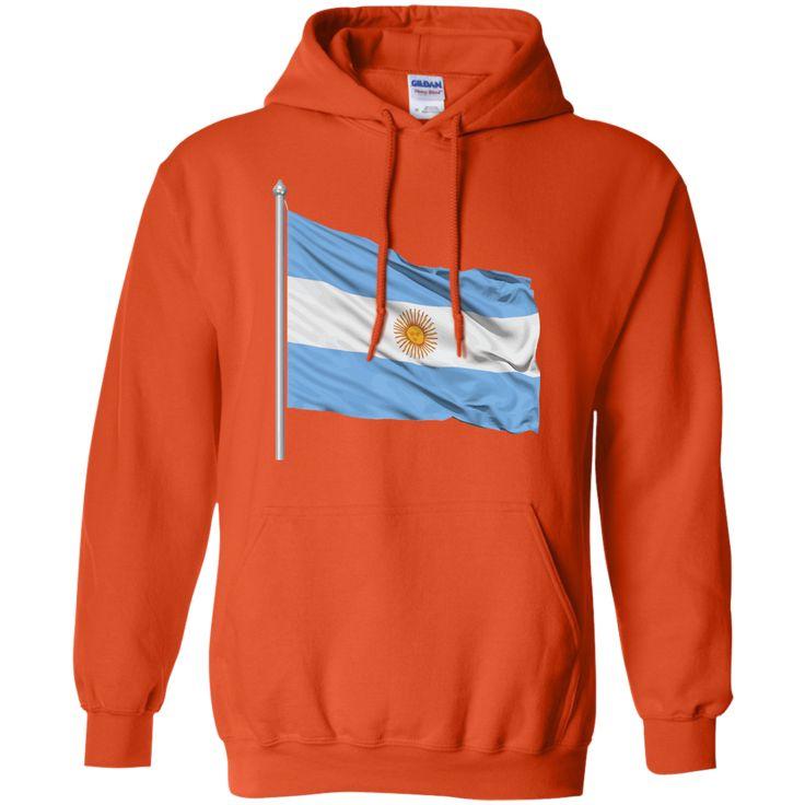 argentina flag -01 Pullover Hoodie 8 oz