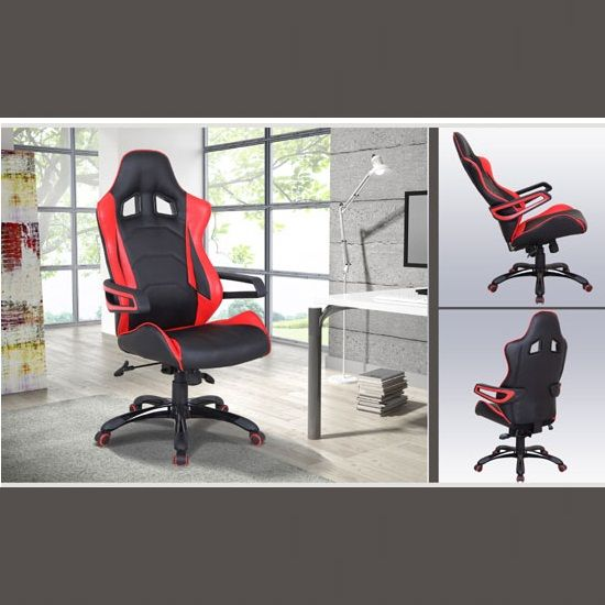 home office ergonomics. sonata modern home ergonomic office chair in black and red faux leather ergonomics k