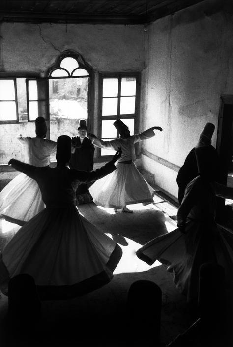 Leonard Freed. TURKEY. Konya. 1976. Whirling Dervishes.