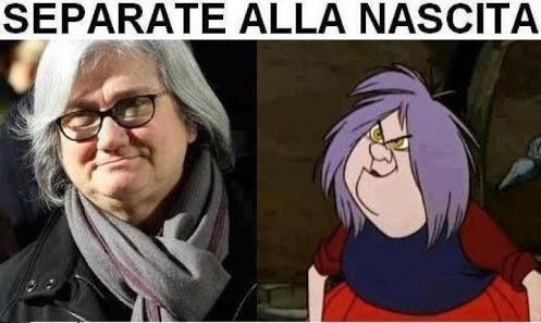 Separate alla nascita immaginidivertenti.org Più simpatica la strega del cartoon, l'altra è una zecca!