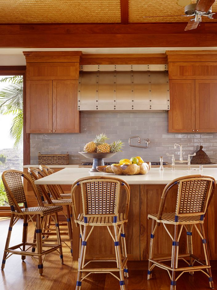 Best Kitchen Inspiration Ideas Images On Pinterest - Breakfast nook wooden cabinets linear kitchen mixer tap yellow chairs