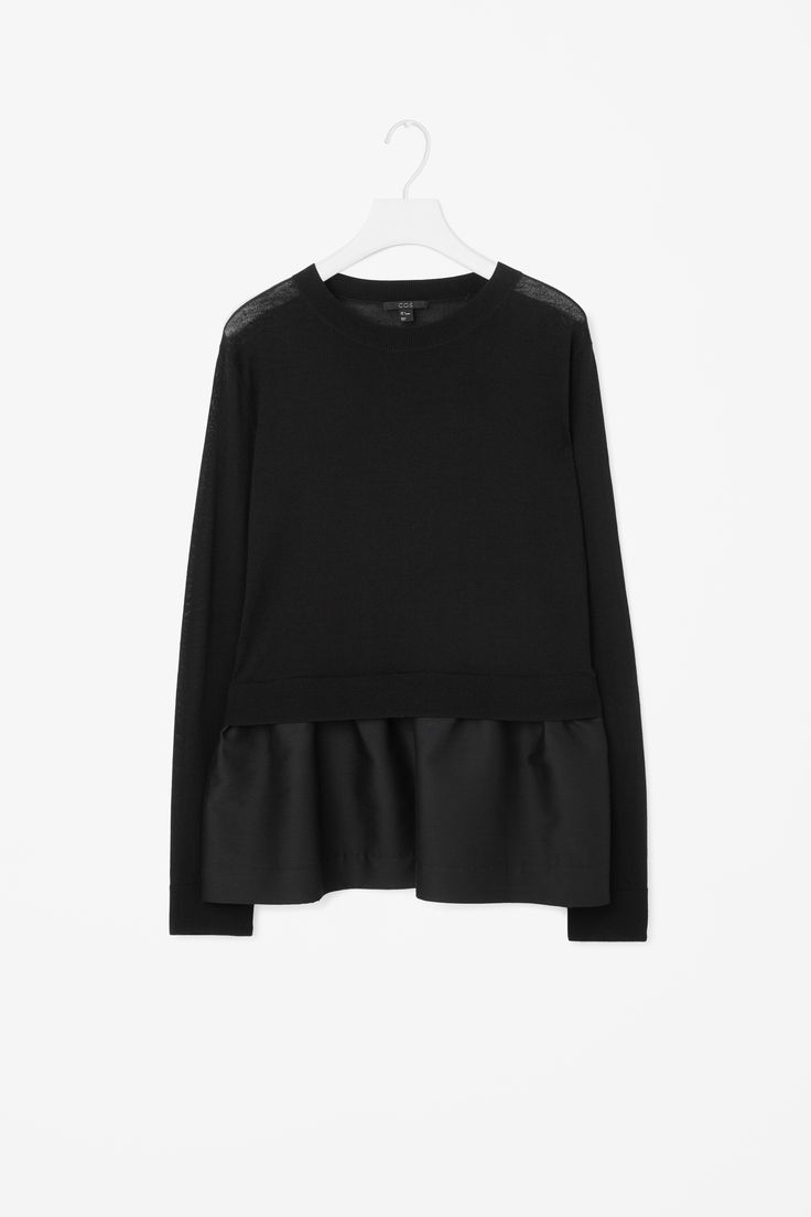 COS | Knitted top with contrast skirt