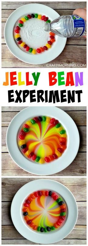 This jelly bean science experiment is so fun for the kids! Perfect for around Easter time.