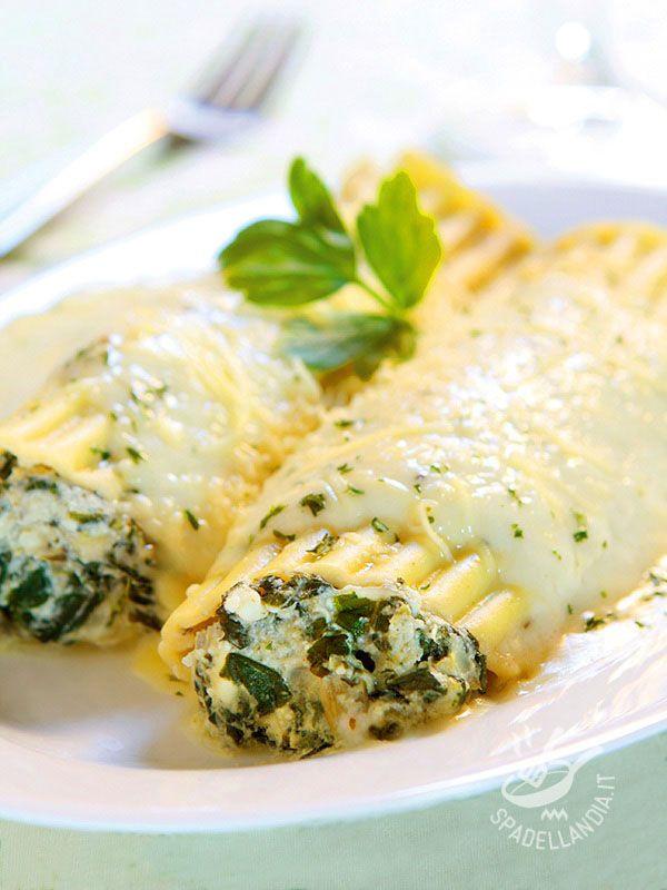Cannelloni agli spinaci in salsa di zafferano - Primi / Pasta