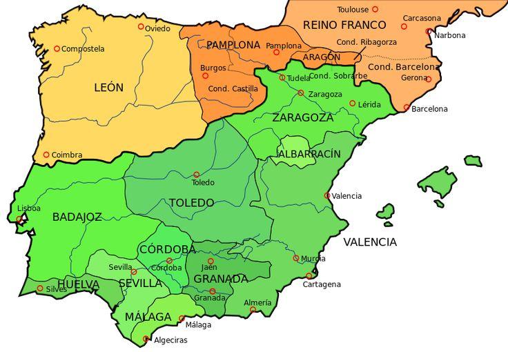 Península ibérica 1030 - Anexo:Cronología de los reinos en la península ibérica - Wikipedia, la enciclopedia libre