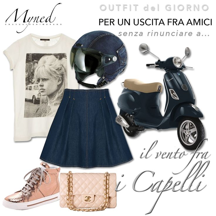 Unusual Denim Vespa #outfit #denim #skirt https://www.facebook.com/mynedstyle?focus_composer=true&ref_type=bookmark