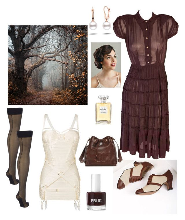 """contest: fall"" by dtlpinn on Polyvore featuring Royal Vintage, Bordelle and Chanel"