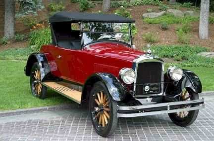 1923 Jewett Roadster - The Jewett was named after Harry M. Jewett, president of the Paige-Detroit Motor Car Co. The Jewett was a 'companion make' to the Paige and was made in Detroit, Michigan from 1922-1926. The Graham Brothers purchased the company in January, 1927. This car has a 249ci., 50hp, 6 cylinder, L-head engine.