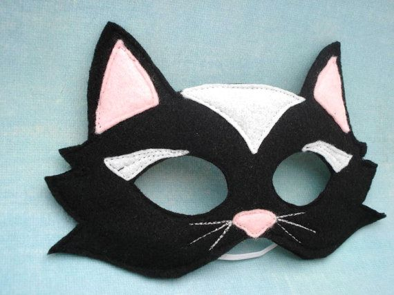 Black Cat Mask by herflyinghorses on Etsy