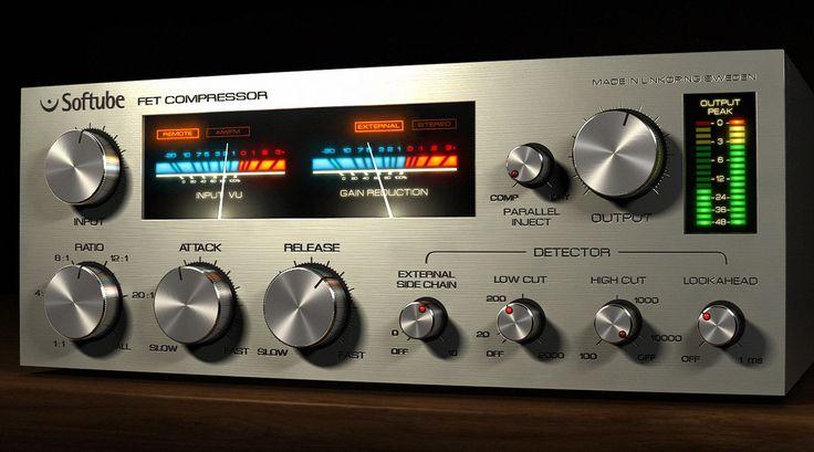 @SoftubeStudios FET compressor. A clean 1176. Ac.guitar/female vox