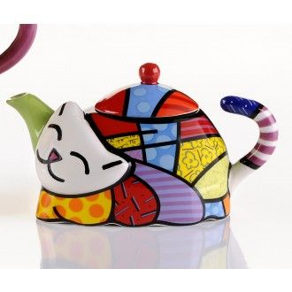 Mini Cat Teapot by Britto