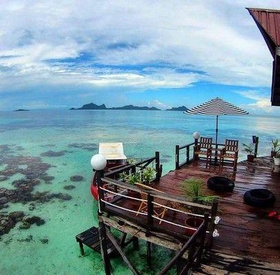 Lato Lato Resort Sea View Room в Semporna, Sabah, Malaysia