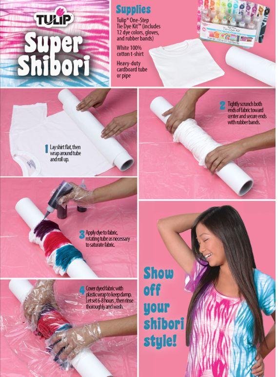 Make a Shibori Styled T-shirt – DIY