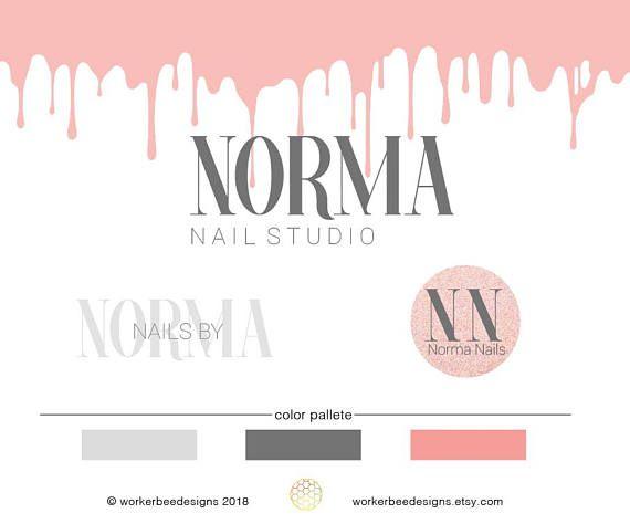 nail shop logo design nail salon premade logo design nail - Nail Salon Logo Design Ideas