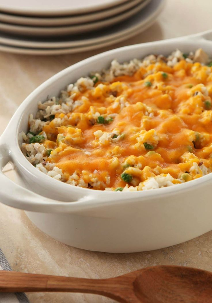 Super Easy Tuna Casserole – This quick-and-easy, and oh-so tasty casserole gets revamped with rice and a cheesy cheddar topping. You'll get it on the dinner table fast, too—perfect for busy weeknights!