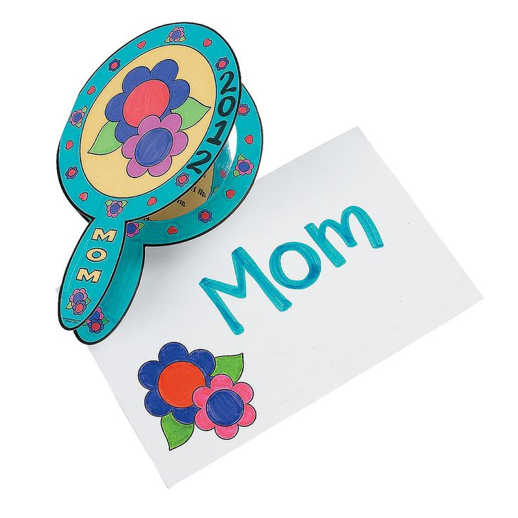 """Mom"" Mirror Cards for Mother's Day"
