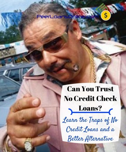 Can you trust loans with no credit check? Some surprising facts about no credit check loans and what you are really paying when you go to a payday loan or pawn store. You won't look at payday loans the same again.