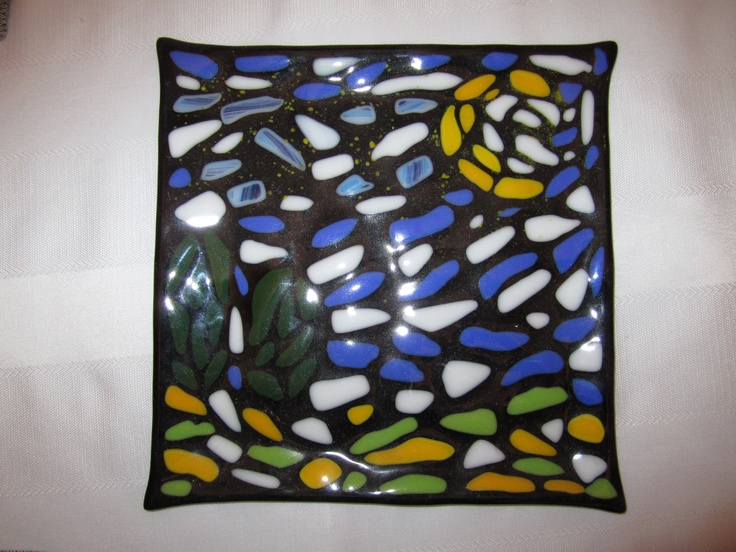 My version of Starry Night - Glass Fusion