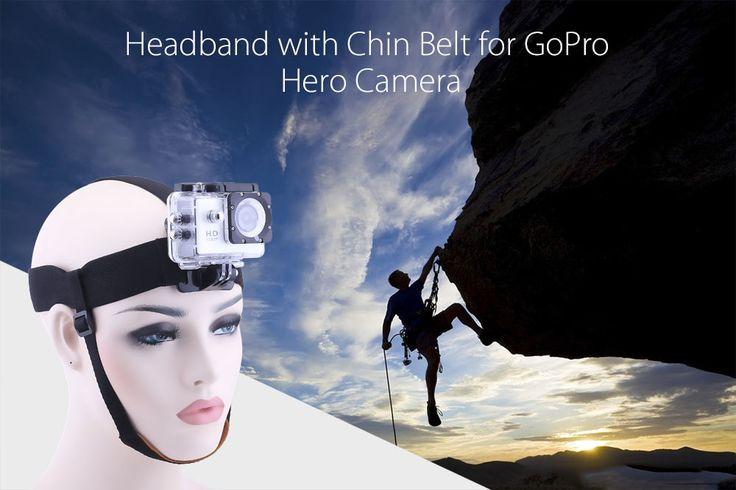 Elastic Headband with Chin Strap Belt for GoPro Hero Camera