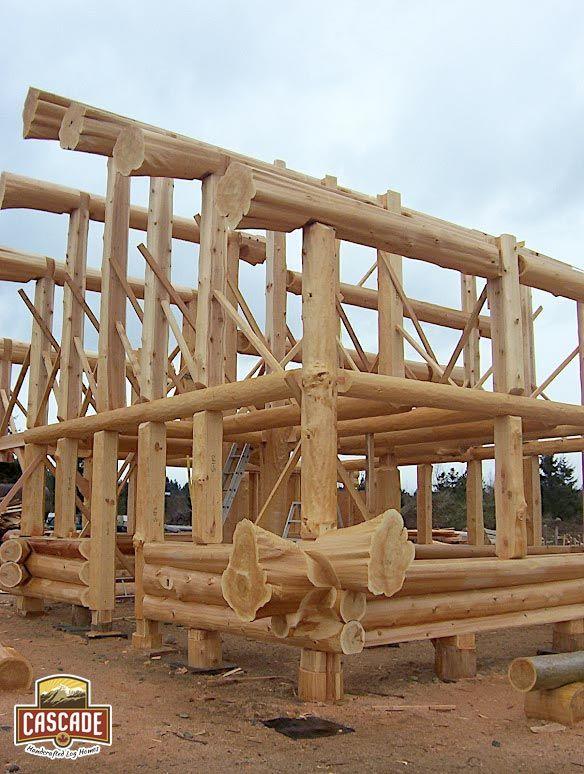 Vancouver Island - Post and Beam Log Shell Construction Cascade Handcrafted Log Homes - Building Custom Log Homes since 1999