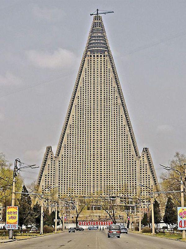 Unique Building in Pyongyang, North Korea