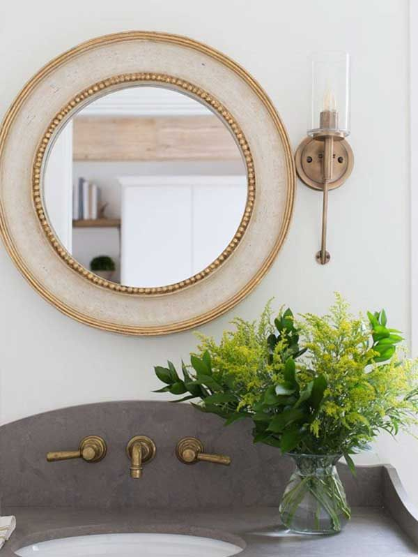 Hinkley Lighting Collier Sconce 3380hb Ig Marieflaniganinteriors Luxury Mirrors Mirror Inspiration Bathroom Wall Sconces