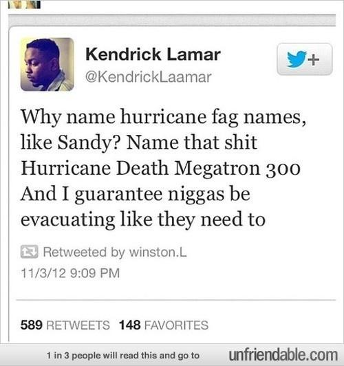 Hurricane Names Make People Evacuate  http://memehunt.tumblr.com